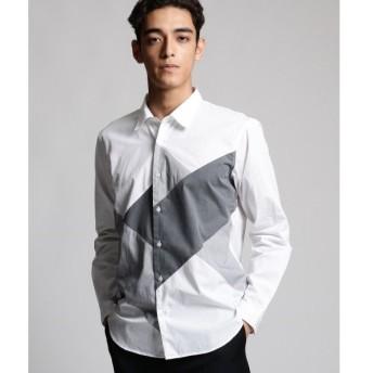tk.TAKEO KIKUCHI / ティーケー タケオキクチ ブロードクロスパッチワークシャツ