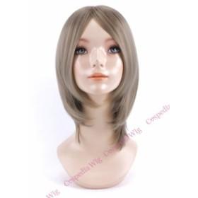 【即納】シンプルボブ マットシルバー ボブ コスプレウィッグ コスプレ ウィッグ wig コスウィッグ 耐熱 ハロウィン