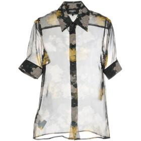 《送料無料》ROCHAS レディース シャツ ブラック 40 100% シルク