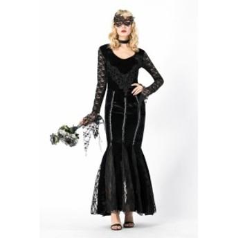 ハロウィン コスプレ ヴァンパイア 魔女 吸血鬼 仮装 仮面 ドレス コスチューム レディース クリスマス 8118