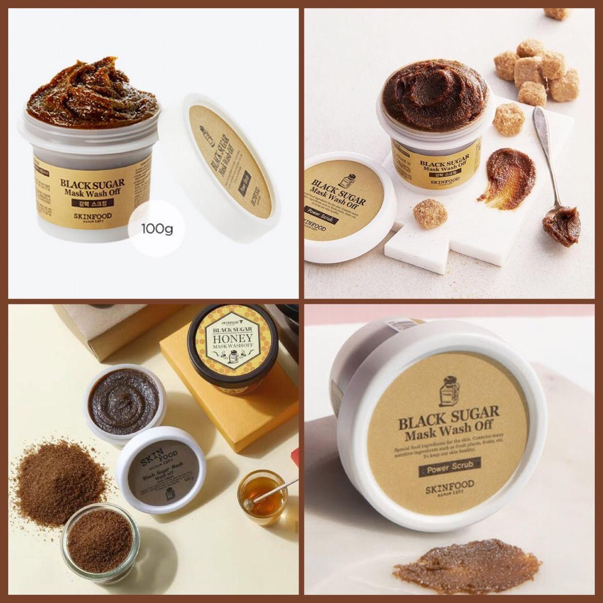 Huiwardrobe Shop Line Skin Food Black Sugar Honey Mask Wash Off 100gr The