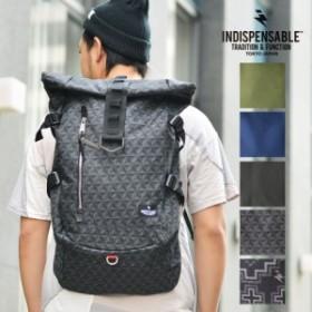 """INDISPENSABLE (インディスペンサブル) リュック IDP.Backpack """"ROLLS"""" ロールバッグ デイバッグ バックパック リュックサック PC収納可"""