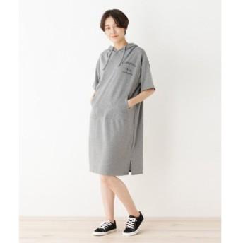 SHOO・LA・RUE / シューラルー フード付ミニ裏毛ワンピ
