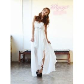 キャバ ドレス キャバドレス キャバクラ ロングドレス パーティードレス Ryuyu 前ミニ ロングドレス シフォン スリット