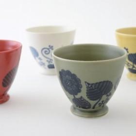 波佐見焼 Flor(フロール) 煎茶碗(マルチカップ) 8.7cm 高さ7.5cm 容量1400ml 重さ約140g 4カ