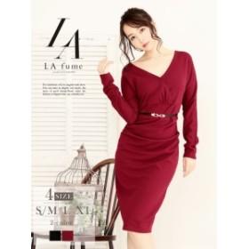 キャバドレス キャバ ドレス キャバクラ キャバワンピース パーティードレス LAfume 大きいサイズ 膝丈 シンプル 長袖