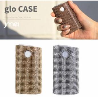 glo グロー ケース ポリカーボネイト グリッター ハードケース ラインストーン 電子タバコ メール便 送料無料