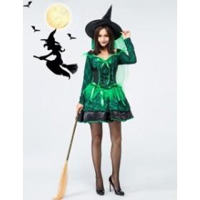 ハロウィン コスプレ コスチューム 仮装  魔女 吸血鬼 レース ワンピース レディース クリスマス パーティー 8133
