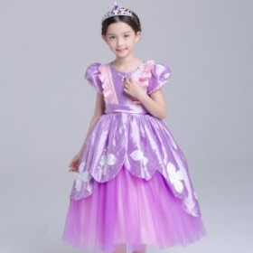 キッズドレス プリンセス ロングドレス しっかりふわりん コスチューム なりきり 子供 キッズ お姫様