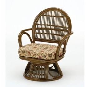 籐 回転座椅子 ミドルタイプ 座面高31cm S882B 籐 ラタン 座椅子 椅子 肘掛け 座イス いす 回転