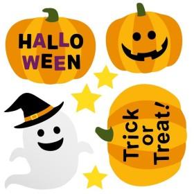 ハロウィン ハロウィーン☆シール式ウォールステッカー halloween かぼちゃ おばけ ランタン おしゃれ 大人 trick or treat お菓子 90×90cm