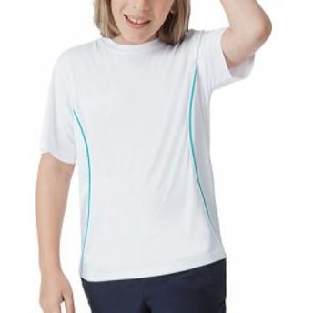 フィラ シャツ ブラウス ポリエステル キッズ 男の子【Fila Fundamental Crew】White/Turquoise