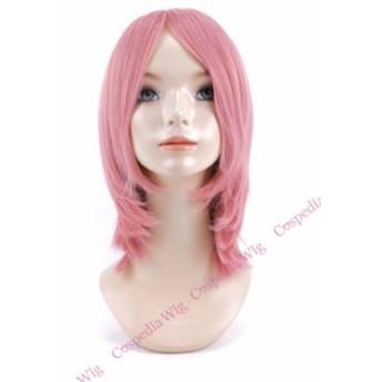 【即納】シンプルボブ ピンク ボブ コスプレウィッグ コスプレ ウィッグ wig コスウィッグ 耐熱 ハロウィン