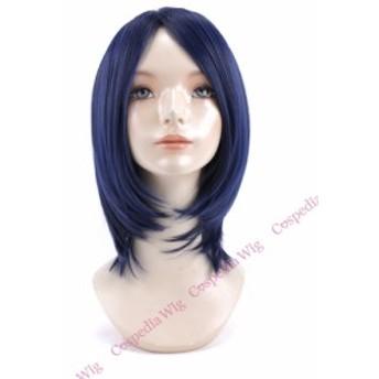 【即納】シンプルボブ ブルーブラック ボブ コスプレウィッグ コスプレ ウィッグ wig コスウィッグ 耐熱 ハロウィン