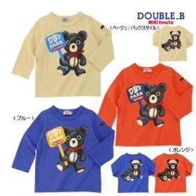 【クリックポスト対応可】ダブルB(DOUBLE.B)パーク長袖Tシャツ(ブルー)(80cm)
