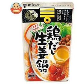 【送料無料】 ミツカン  〆まで美味しい  鶏だし生姜鍋つゆ  ストレート  750g×12袋入