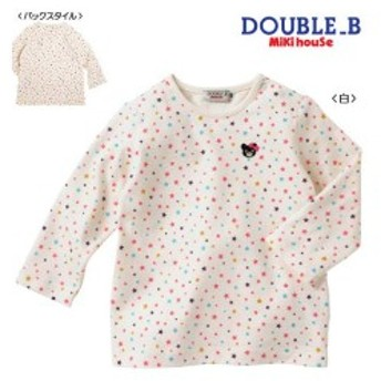 DOUBLE.B ダブルB 星屑長袖Tシャツ 白 110cm
