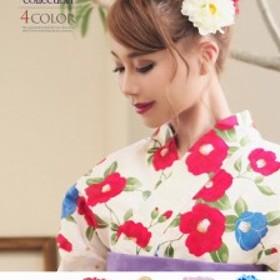 浴衣 セット レディース ゆかた 帯 下駄 小物 キャバ Ryuyu 花 ヘアアクセ 髪飾り 和装小物