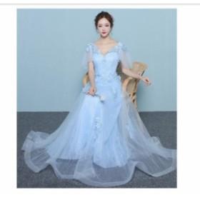 エレガント ロングドレス 披露宴 結婚式 お呼ばれ 大きいサイズ 二次会ドレス Aライン 演奏会 発表会 ピアノ ウエディングドレス