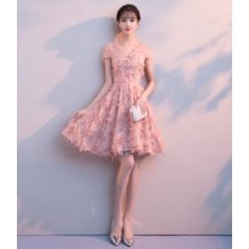 袖付き ミニ 膝丈 ドレス 結婚式 ドレス お呼ばれ ワンピース 30代 20代 40代 パーティードレス 二次会 大きいサイズ 親族 演奏会 キャバ