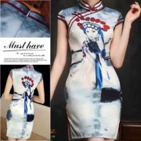 チャイナドレス ミニ チャイナドレス 大きいサイズ チャイナドレス ミニ ショートドレス 二次会ドレス コスチューム シルエット