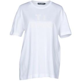 《9/20まで! 限定セール開催中》DOLCE & GABBANA レディース T シャツ ホワイト 44 95% コットン 5% シルク