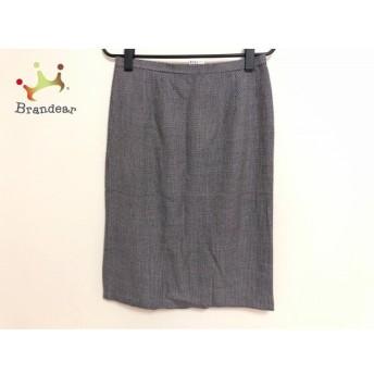 ラピーヌブランシュ lapine blanche スカート サイズ9 M レディース 白×黒             スペシャル特価 20191105