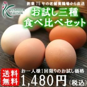 【お一人様1回限り】三種の卵食べ比べお試しセット!18個入り【名古屋コーチンの卵(6個)+赤卵(6個)+白卵(6個)】高級卵入り♪送料無料!