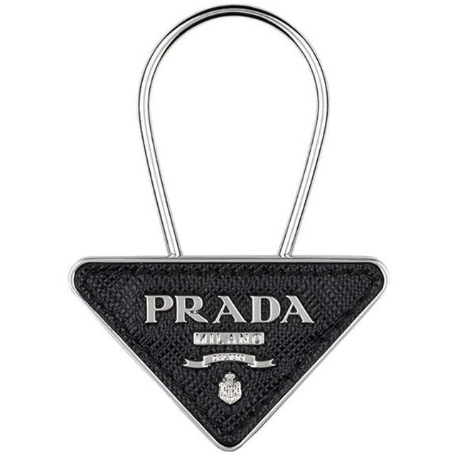 61ba06c66438 PRADA プラダ 2PP301 053 F0002 メタル 型押しレザー スティールロゴチャーム キーリング キーホルダー アクセサリー カラー
