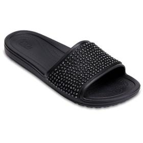 レディース サンダル Women s Crocs Sloane Embellished Slides(W7:23.0cm/Black×Black) 204691