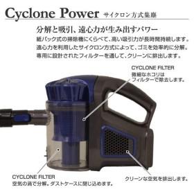 掃除機 コードレス サイクロン ハンディ スティッククリーナー 充電式 軽量 多機能 自走式ブラシ搭載 家庭/車内2way 静音操作 長時