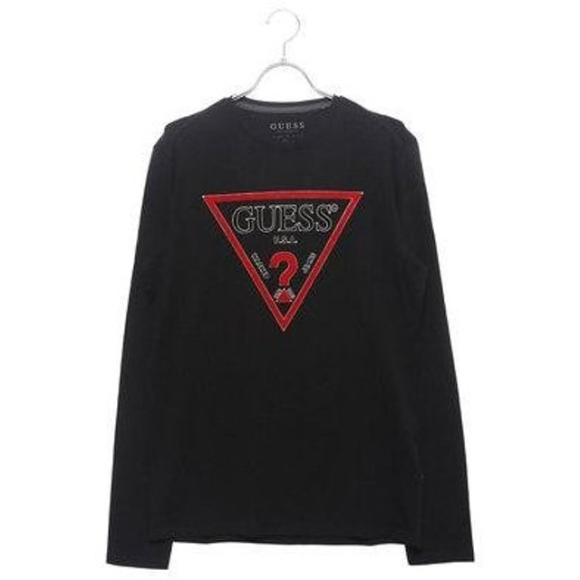 ゲス GUESS L/S TRIANGLE LOGO ORIGINAL TEE (JET BLACK)