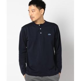 シップス LACOSTE(ラコステ):THERMO LITE(R) ヘンリーネック Tシャツ メンズ ネイビー SMALL 【SHIPS】