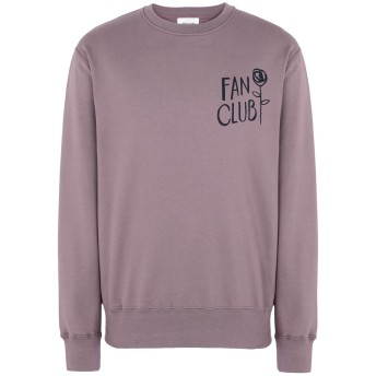 《期間限定セール開催中!》WOOD WOOD メンズ スウェットシャツ モーブ L コットン 100% Hugh sweatshirt