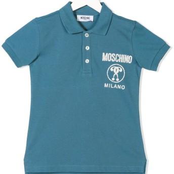 Moschino Kids TEEN logo patch polo shirt - ブルー