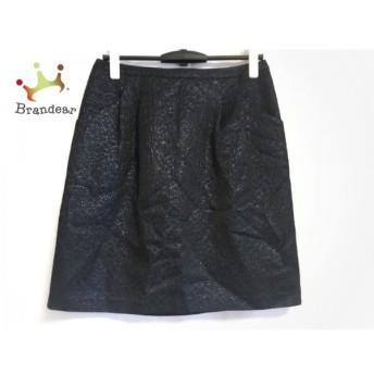 ジユウク 自由区/jiyuku スカート サイズ40 M レディース 美品 黒×ネイビー スペシャル特価 20190815