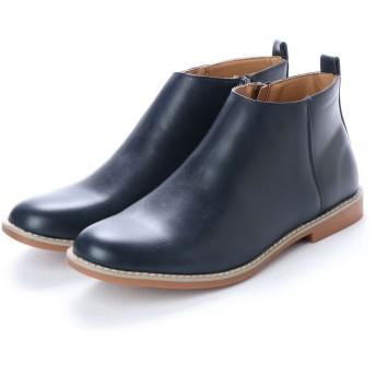 SFW サンエープラス AAA+ 軽くて履きやすくて歩きやすい!シンプルで合わせやすく履いた時のシルエットがきれいなショートブーツ/2356 (ネイビー)