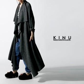 コート ウール混 羽織り ロング ボリュームカラーコート・20時〜再再販。「G」##メール便不可