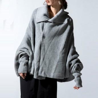 ニット 羽織り カーディガン 畔編み 畔ニットポンチョ・8月21日20時〜再再販。##メール便不可