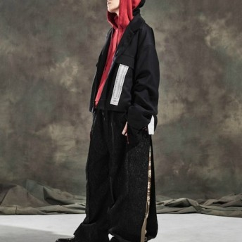 BOICE FROM BAYCREW'S KANIZSA OpenCollar Jacket ブラック フリー