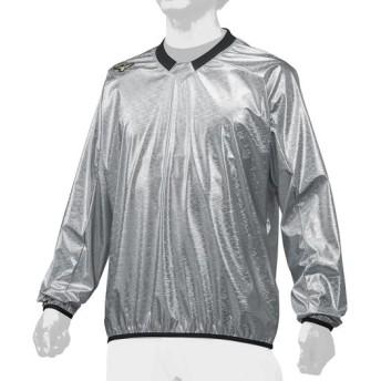 MIZUNO SHOP [ミズノ公式オンラインショップ] 【ミズノプロ】Vネックジャケット/長袖[ユニセックス] 03 シルバー 12JE8V77