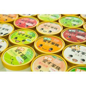 笠岡ジェラート工房ハッピーのカップアイス(愛す家族)15個セット