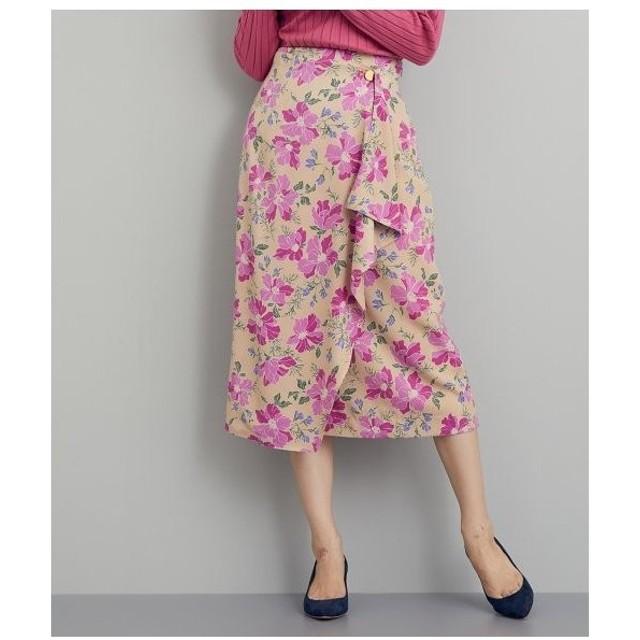 ROPE' / ロペ 【Shirakaba lab×CHION TEC×ROPE'】ハーブプリントラップスカート