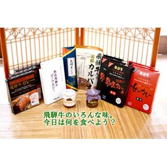 飛騨牛づくしセット(飛騨牛カレー12食・昆布巻・しぐれ煮)[F0026]
