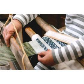 信州伝統工芸 はた織り体験1名分【藍染ペアコースターを織ってみよう】
