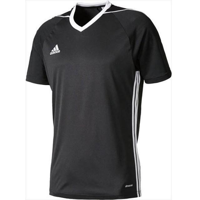 [adidas]アディダス TIRO17 ユニフォーム (BUJ02)(BK5437) ブラック/ホワイト[取寄商品]