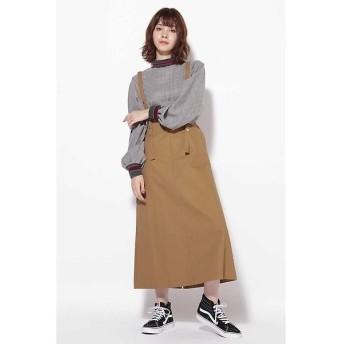 ROSE BUD / ローズ バッド サスペンダー付きジャンパースカート
