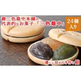 銘菓「三色最中」 小豆・白・抹茶餡24個入