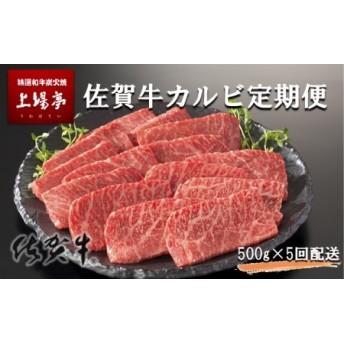 トップブランド牛「佐賀牛カルビ焼肉用」 定期便 約500g×4パック 年5回お届け