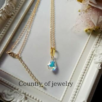 一点限り*Country of jewelry*ペンダント スワロースキーCrystal AB